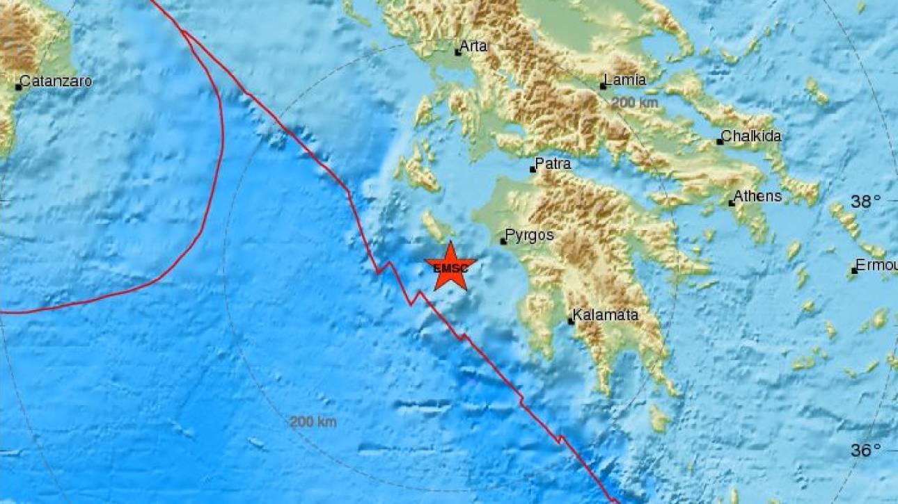 Σεισμός κοντά στη Ζάκυνθο - Αισθητός σε αρκετές περιοχές