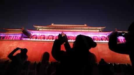 Εντυπωσιακές εικόνες: Ιστορική φωταγώγηση της Απαγορευμένης Πόλης του Πεκίνου