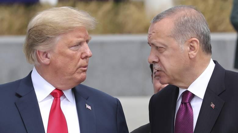 Τηλεφωνική επικοινωνία Τραμπ-Ερντογάν για τη Συρία