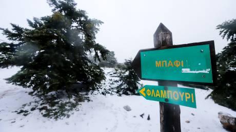 Επιχείρηση απεγκλωβισμού δύο οικογενειών στην Πάρνηθα