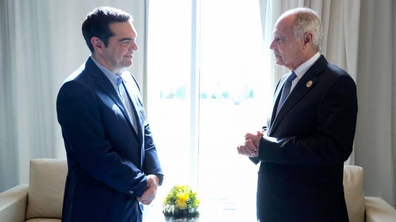 Τσίπρας: Σημαντικός ο ρόλος της Ελλάδας στον διάλογο ΕΕ-Αραβικού Συνδέσμου