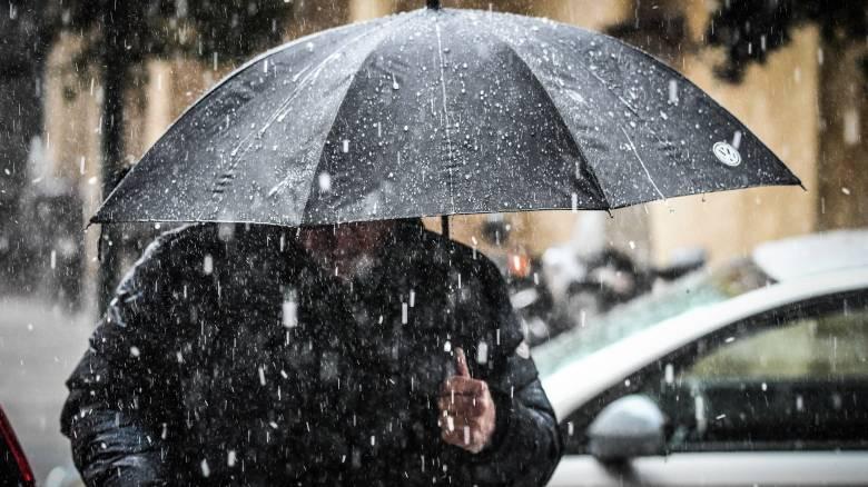 Καιρός: Ισχυρές βροχές, καταιγίδες και πολικό ψύχος - Ποιες περιοχές θα «πνίξει» η «Ωκεανίς»