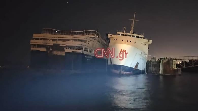 Ελευσίνα: Άρχισε η απάντληση υδάτων από το πλοίο που παρουσίασε εισροή υδάτων