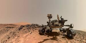 Η selfie του ρόβερ Curiosity, που τραβήχτηκε στις 5 Αυγούστου 2015 στον Άρη