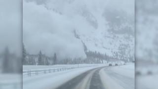 Κολοράντο: Οδηγός καταγράφει τη στιγμή που χιονοστιβάδα «πνίγει» αυτοκινητόδρομο