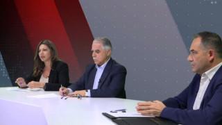 Αντιλογίες: Γιάννης Μπαλάφας και Σοφία Ζαχαράκη στο στούντιο του CNN Greece
