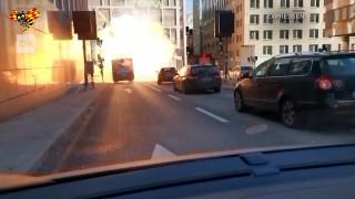Σουηδία: Βίντεο ντοκουμέντο από την ισχυρή έκρηξη λεωφορείου στη Στοκχόλμη