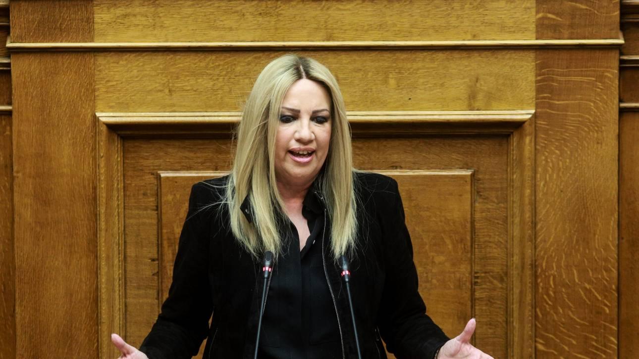 Γεννηματά: ΣΥΡΙΖΑ και ΝΔ εργαλειοποίησαν το ζήτημα του Προέδρου της Δημοκρατίας
