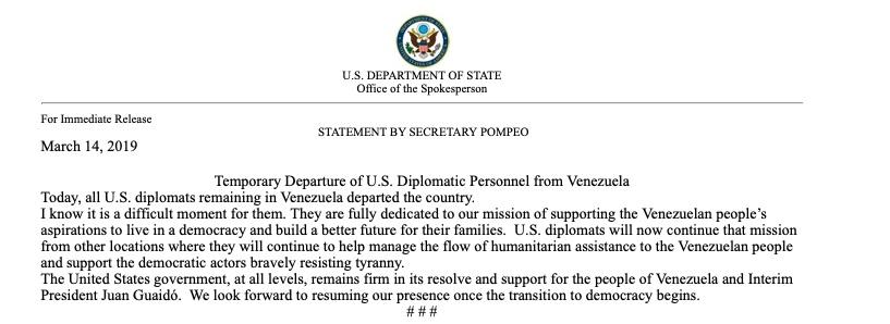 US diplomatic personel