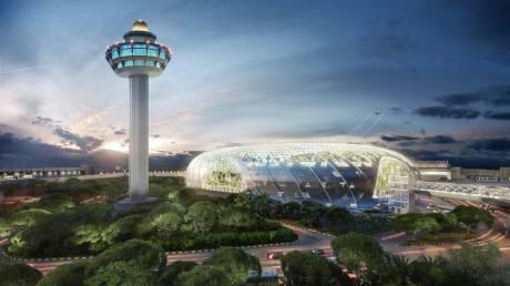 Ανοίγει τις πύλες του το «διαμάντι» του αεροδρομίου Changi στη Σιγκαπούρη