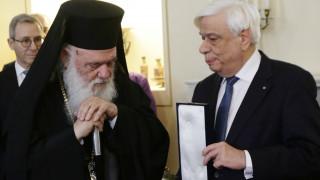 Ο Παυλόπουλος γιόρτασε με τον Ιερώνυμο την Κυριακή της Ορθοδοξίας