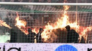 Παναθηναϊκός - Ολυμπιακός: Οριστική η διακοπή του αγώνα μετά τα επεισόδια