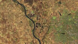 Οι ποταμοί Platte και Elkhorn, κοντά στο Γουότερλου της Νεμπράσκα, τον Μάρτιο του 2018...