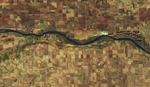 Ο ποταμός Platte δυτικά του Φρέμοντ της Νεμπράσκα, στις 20 Μαρτίου του 2018...