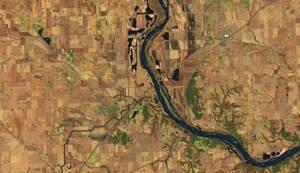 Και πάλι σημείο του ποταμού Platte, αυτή τη φορά κοντά στην περιοχή Άσλαντ της Νεμπράσκα, τον Μάρτιο του 2018...