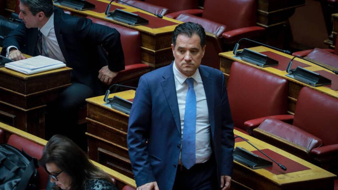 Άδωνις Γεωργιάδης κατά πάντων στη Βουλή