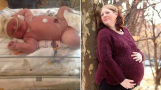 «Ήταν πολύ δύσκολο»: Αμερικανίδα γέννησε μωρό που ζύγιζε 6,8 κιλά