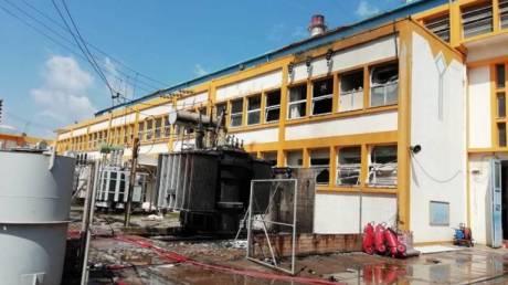 Ηράκλειο: Έσβησε η φωτιά στο εργοστάσιο της ΔΕΗ - Επανέρχεται σταδιακά η ηλεκτροδότηση