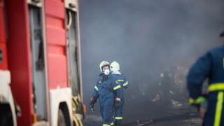 Μεγάλη φωτιά στο Πλωμάρι Μυτιλήνης: Δυνατοί άνεμοι στην περιοχή