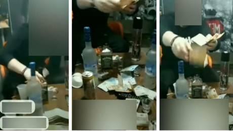Βίντεο όλο... χλίδα από τις φυλακές Κορυδαλλού: Πάρτι, αλκοόλ και «χαρτοπόλεμος» μετρητών
