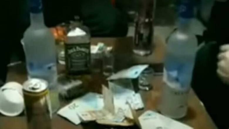 Νέο βίντεο χλίδας από το «πάρτι» στις φυλακές Κορυδαλλού: «Βαρύ» ζεϊμπέκικο και άφθονο αλκοόλ