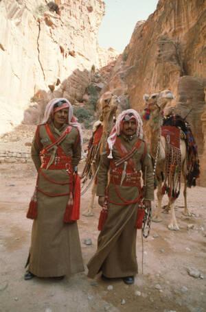1984 Βεδουίνοι στρατιώτες του ιορδανικού στρατού, στο Αμάν.