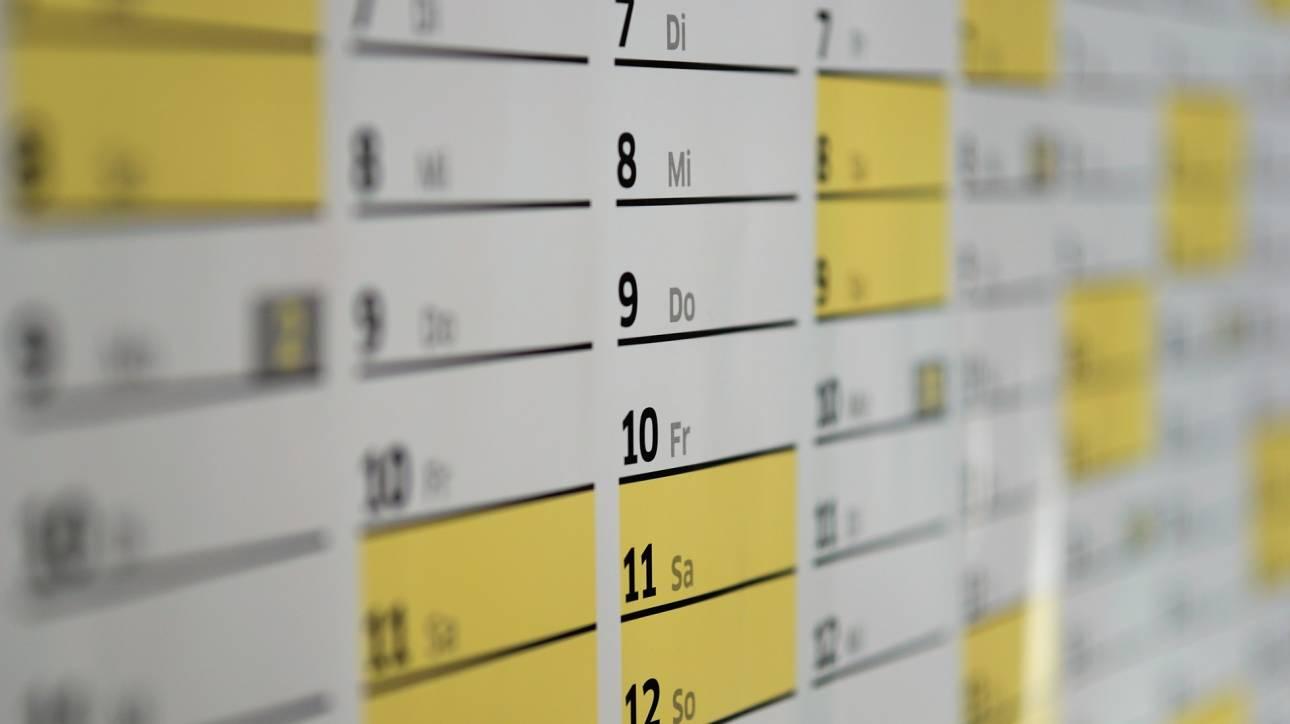 Αργίες 2019: Αυτά είναι όλα τα τριήμερα του έτους