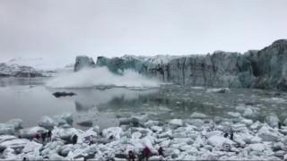 Ισλανδία: Η αποκόλληση παγόβουνου προκάλεσε μίνι τσουνάμι, πανικοβάλλοντας τους τουρίστες