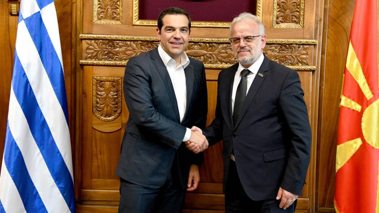 Επίσκεψη Τσίπρα στα Σκόπια: «Η εφαρμογή της συμφωνίας θα προχωρήσει απρόσκοπτα» διαμήνυσε ο Τζαφέρι