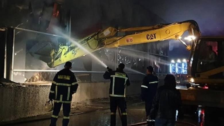 Φωτιά σε εργοστάσιο ζαχαροπλαστικής στο Σιδηρόκαστρο Σερρών