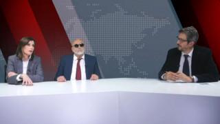 Αντιλογίες: Παναγιώτης Κουρουμπλής και Άννα Μισέλ Ασημακοπούλου στο στούντιο του CNN Greece