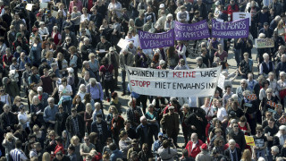 Στους δρόμους χιλιάδες Γερμανοί για τα «τρελά ενοίκια»