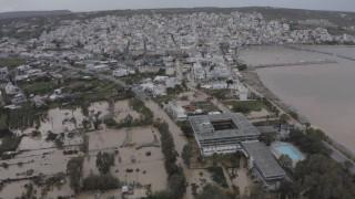«Πνίγηκε» η Σητεία - Εικόνες καταστροφής από drone