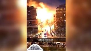 Παρίσι: Η στιγμή της ισχυρής έκρηξης σε φλεγόμενο κτήριο