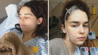 Οι συγκλονιστικές φωτογραφίες της Εμίλια Κλαρκ του Game of Thrones από το νοσοκομείο