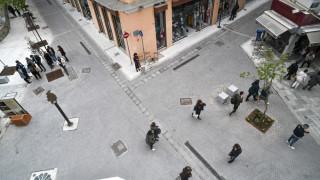 Νέα πλατεία στην Αθήνα «ζωντανεύει» το Εμπορικό Τρίγωνο