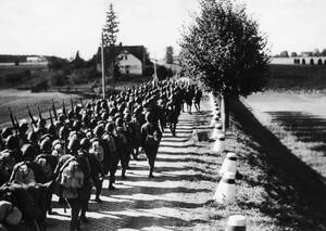 1939 Το πολωνικό πεζικό κάνει ασκήσεις ρουτίνας, λίγους μήνες πριν τη γερμανική εισβολή.