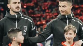 Η όμορφη στιγμή του Κριστιάνο Ρονάλντο πριν τον αγώνα με τον Άγιαξ