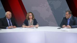 Αντιλογίες: Γιάννης Αμανατίδης και Μαρία Σπυράκη στο στούντιο του CNN Greece