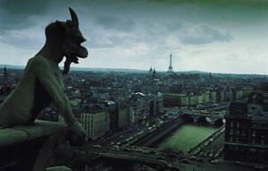 1966, η θέα από την οροφή της Παναγίας των Παρισίων.