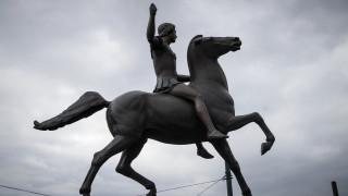 Έγιναν τα αποκαλυπτήρια του αγάλματος του Μεγάλου Αλεξάνδρου