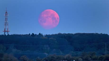 Ροζ πανσέληνος: Εικόνες νυχτερινής μαγείας από όλο τον κόσμο