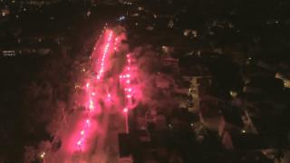 Εντυπωσιακά πλάνα drone από την.. «φιέστα» των οπαδών του ΠΑΟΚ