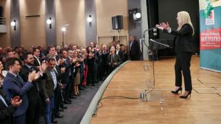 Γεννηματά: Η χώρα χρειάζεται πολιτική ανατροπή και προοδευτική αλλαγή