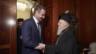 Συνάντηση Κ.Μητσοτάκη με τον Οικουμενικό Πατριάρχη Βαρθολομαίο