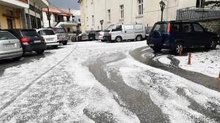 Έντονη χαλαζόπτωση σε περιοχές του νομού Λάρισας