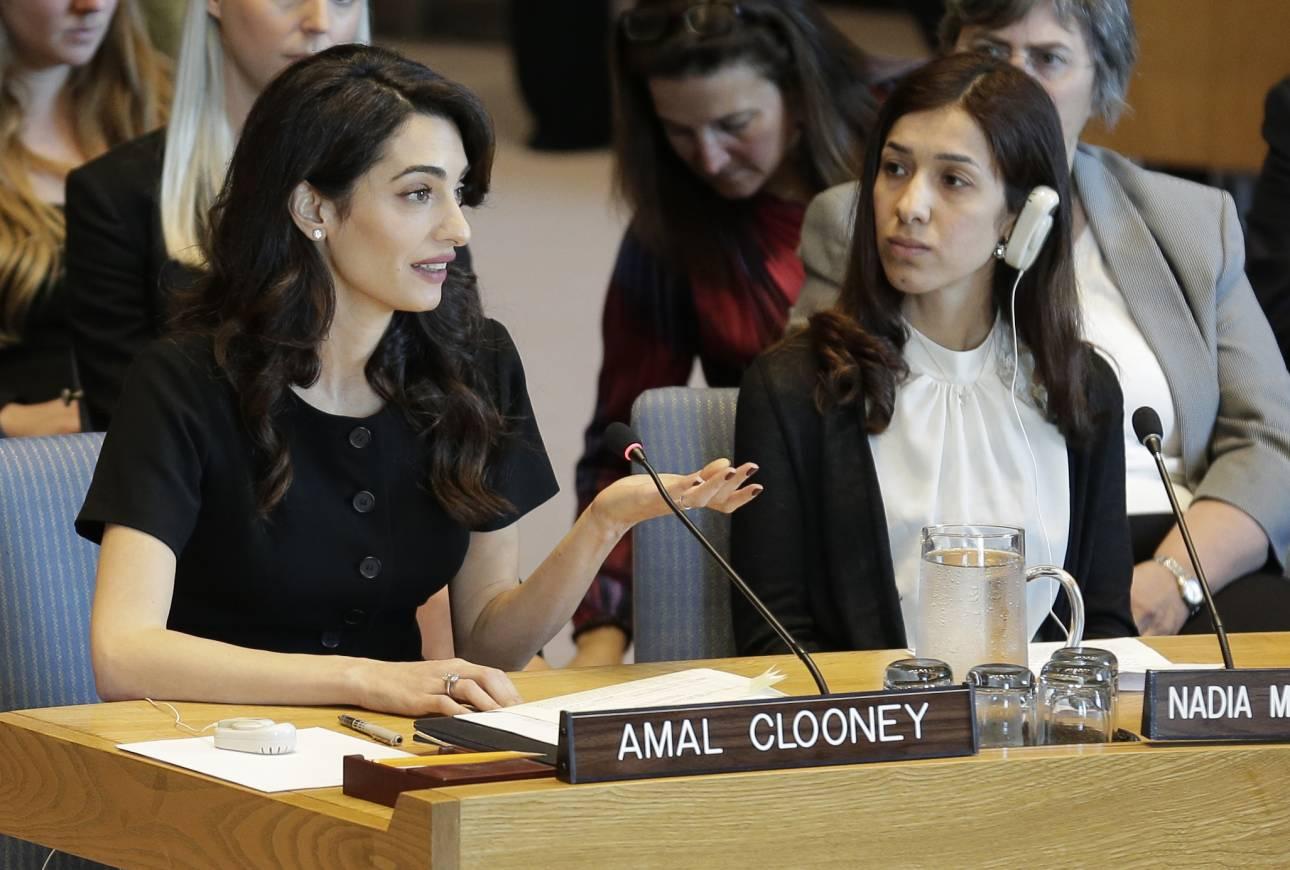 Αμάλ Κλούνεϊ και Νάντια Μουράντ ενώνουν τις δυνάμεις τους κατά της σεξουαλικής βίας