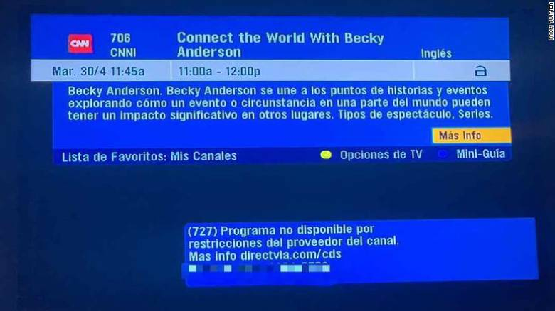 «Μαύρο» στο CNNi και στο BBC στη Βενεζουέλα