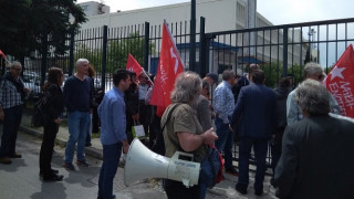 Διαμαρτυρία της ΛΑΕ έξω από την ΕΡΤ: «Να σταματήσει η φίμωση των αντιμνημονιακών δυνάμεων»