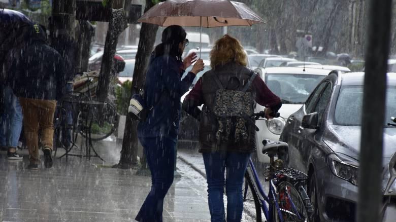 Έκτακτο δελτίο επιδείνωσης καιρού: Βροχές, καταιγίδες και χαλαζοπτώσεις